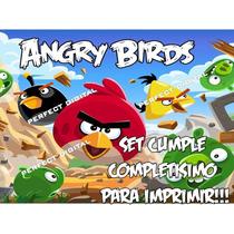 Cotillon Decoracion Golosinas Cumpleaños Angry Birds 2x1
