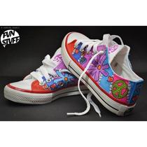 Zapatillas Lona Pintadas A Mano, Diseños Originales