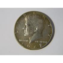 |hds| Moneda Estados Unidos 1967 Half Dollar Kennedy Plata