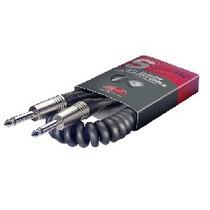 Cable Stagg Plug - Plug Instrumentos 6m Rulo Espiralado