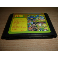 Video Juego Sega Genesis 4in1 The Simpons Bart Envio Gratis