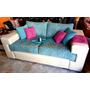 Sofa De 2 Cuerpos Tela Y/o Cuerina