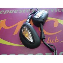 Espejos Zanella Zb 110 C/luz En Mtc Motos
