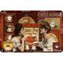 Carteles Antiguos De Chapa Gruesa 60x40cm Coffee Café Al-140