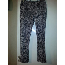 Pantalon Scuba Animal Print T 44 Al 56 $ 350