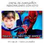 Hombre Araña Spider Cartel De Cumpleaños Personalizado Foto