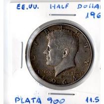 Estados Unidos Half Dollar 1964 - Plata 900