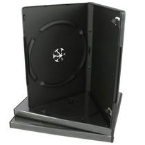 25 Estuches Dvd 14mm Negros Resistentes Y De Calidad