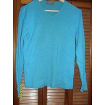 Pullover Marca Perimetro Color Turquesa