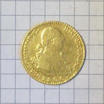 España 2 Escudos Madrid 1800 Oro Muy Linda