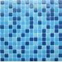 Venecita Ceramica Mix Celeste P/piscinas Biseladas 2x2 Vario