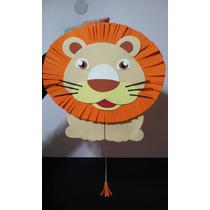 Piñata Leon, Animales De La Selva, Artesanal Goma Eva