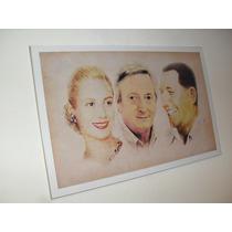 Cuadros Evita Nestor Kirchner Peron - Arte Digital - 15x20
