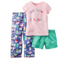 Pijama Carters Nuevo! 3 Piezas, Talle 3 Años T3