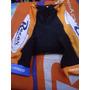 Calza Corta Team Racer Shimano Naranja/negro