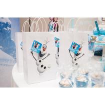 Bolsitas Kraft Souvenirs Personalizadas Frozen, Elsa, Olaf