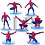 2 Figuras Spiderman Hombre Araña Adorno Torta Pvc Con Base