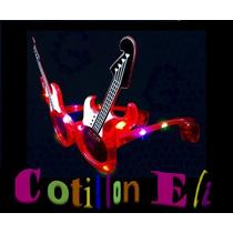 Cotillon Anteojos Luminosos Guitarra 10 Leds. X 3 Unidades