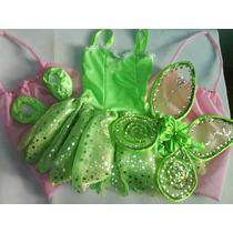 Disfraz Vestido De Tinkerbell Campanita Princesas Envios