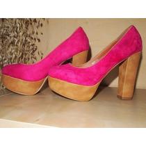 Zapatos Importados Taco Alto Stilettos Mujer Gamuzados