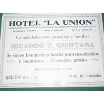 Cordoba Clipping Hotel La Union Ricardo Quintana Quilino
