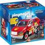 Playmobil Coche Jefe De Bomberos Con Luces Y Sonid