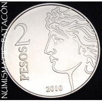 Moneda 2 Pesos 75º Aniversario Creacion Bcra - 2010 Sin Circ