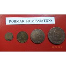 Robmar-españa-1870-las 4 Monedas De 1-2-5 Y 10 Centimos-ver