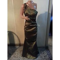Vestido Largo De Noche De Taftan T S Y M $ 1100 Espectacular