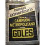 Afiche Revista Goles Boca River San Lorenzo Racing Chacarita