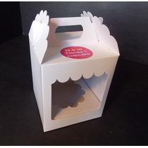 Caja Cupcake Individual Cartulina Con Doble Visor (pack 25u)