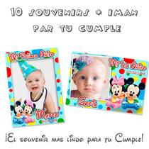 Mickey Minnie Bebé- Souvenirs Cumpleaños 10 Imanes Divinos!