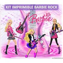 Kit Imprimible Barbie Rock