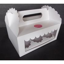 Caja 6 Cupcakes Cartulina Con Doble Visor (pack 12 U)