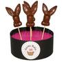 Chupetines De Chocolate Conejo Reempla Huevo Conejito Pascua