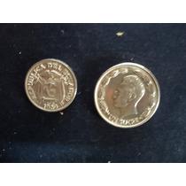 Lote De 2 Monedas Ecuador 1 Sucre 1980 Y 20 Cent 1969
