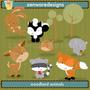 Kit Imprimible Animales Del Bosque 7 Imagenes Clipart