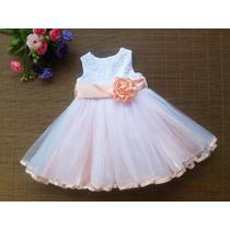 Vestido Para Bebe Ideal Bautismo / Cortejos / Fiestas