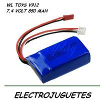 Bateria De Helicoptero Wl Toys V912 . V 912 Original !!!