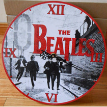 Reloj De Pared De Madera The Beatles Modelos Regalo Original