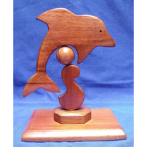Figura De Delfin Talla En Madera