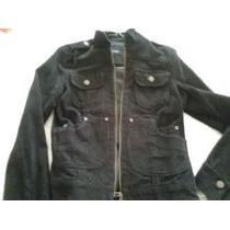 Campera Corderoy Portsaid Negra Talle M Mujer