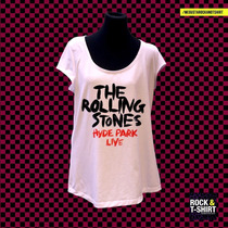 Remera The Rolling Stones Hyde Park Live Para Mujer
