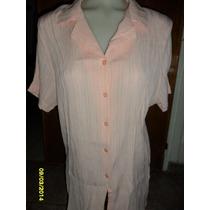 Camisa Bambula Elastizada Diseño Independiente Nueva Talle L
