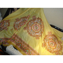 Pashmina Pañuelo Import India Original Bordado Lentejuelas!!
