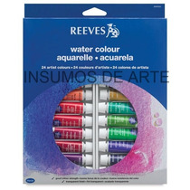 Set Acuarelas Reeves X 24 Colores En Pomos De 10 Ml.