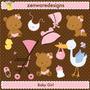 Kit Imprimible Ositos Bebes Nena Imagenes Clipart Babyshower