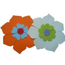 Flores Grandes En Goma Eva -.para Esta Primavera 2014!!