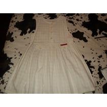 Vestido Solero Color Blanco Escocés Marca Mistura Fina