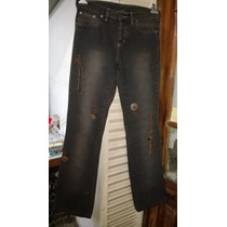 Jeans Ossira Talle 25-contorno Cintura 79cm.-de Largo 102cm.